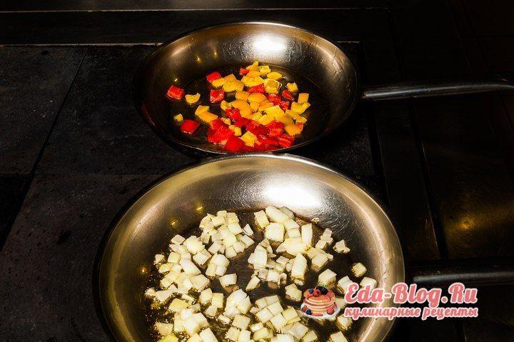режем и жарим перец