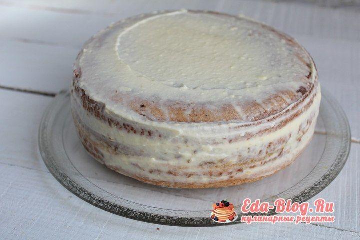 мажем торт кремом