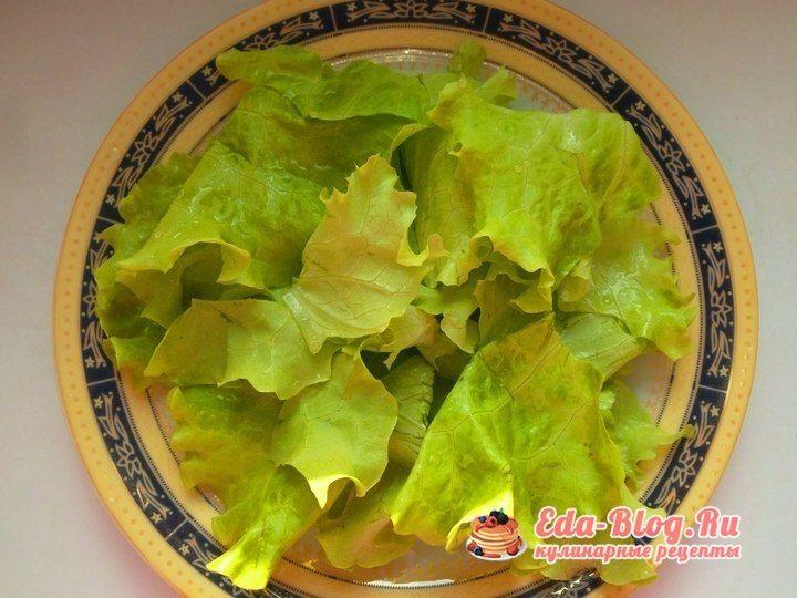 рвем салатные листья