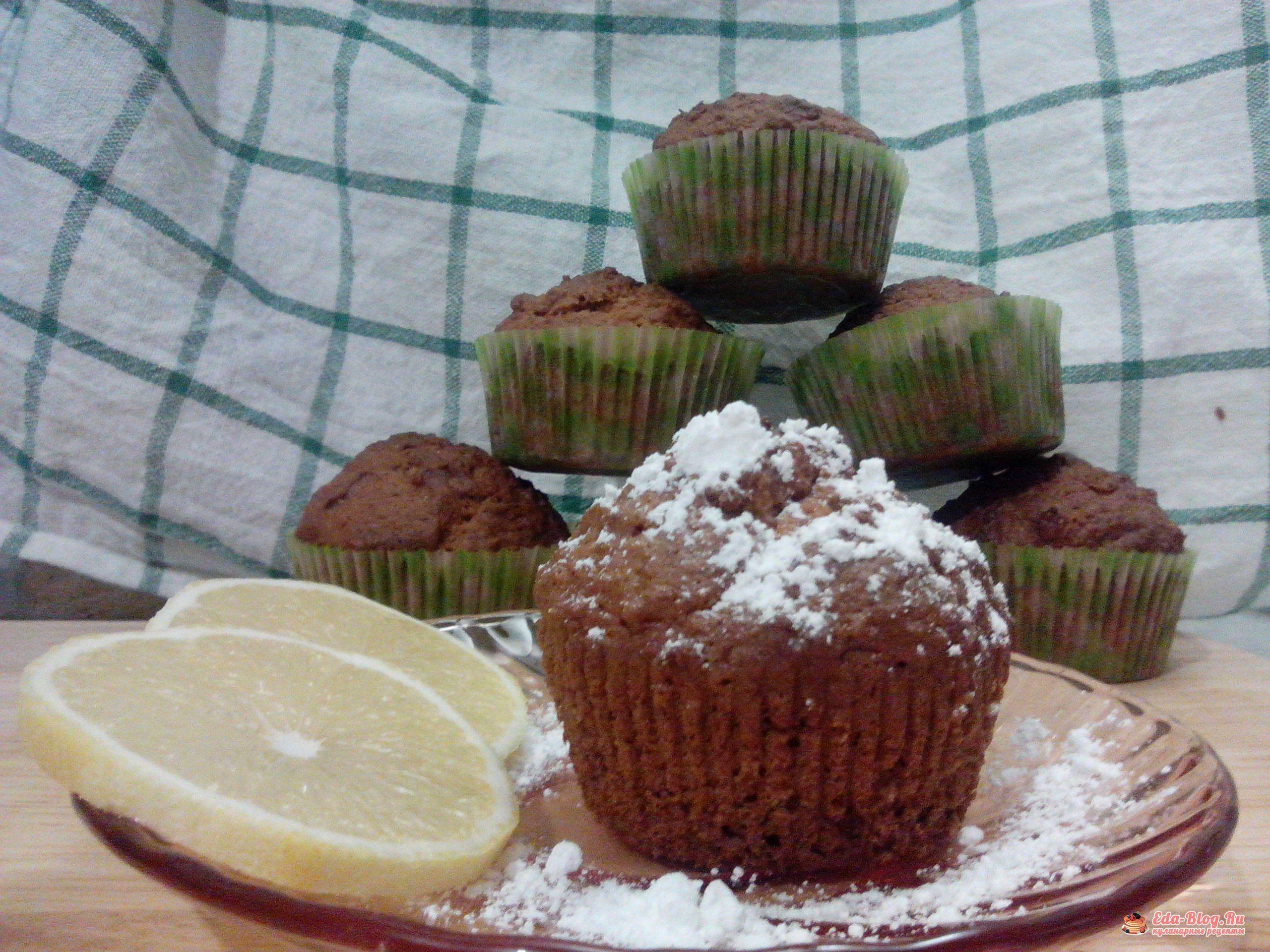 кекс с лимоном и кокосом