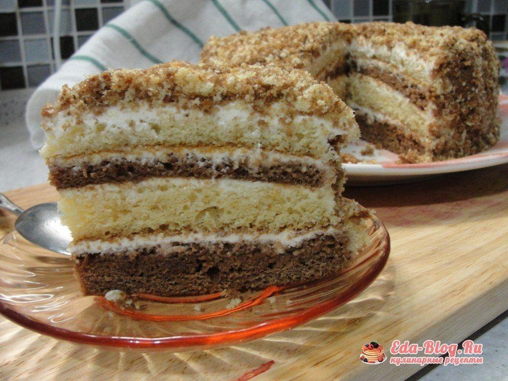 Простой сметанный торт рецепт с фото пошагово