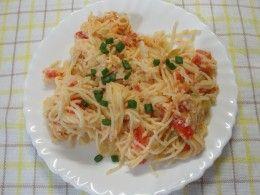 спагетти с помидорами рецепт