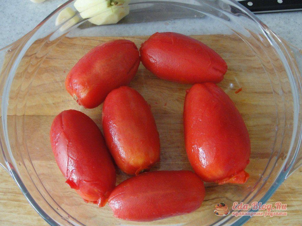 чистим помидоры