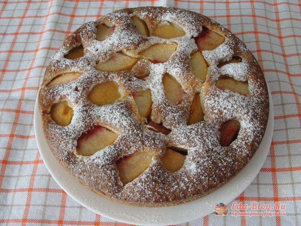 Пирог с свежими персиками рецепт пошагово
