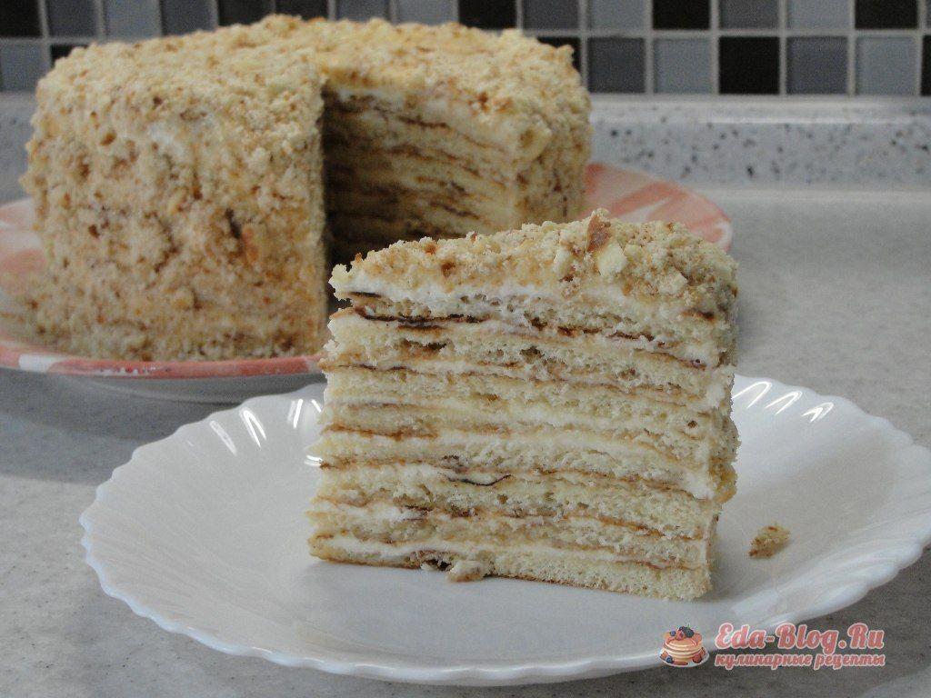 быстрый торт на сковороде