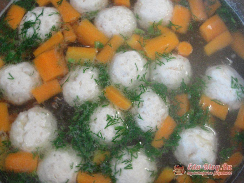 морковь в бульоне