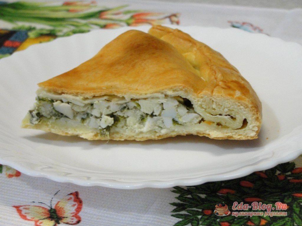пирог с зеленым луком и яйцом рецепт