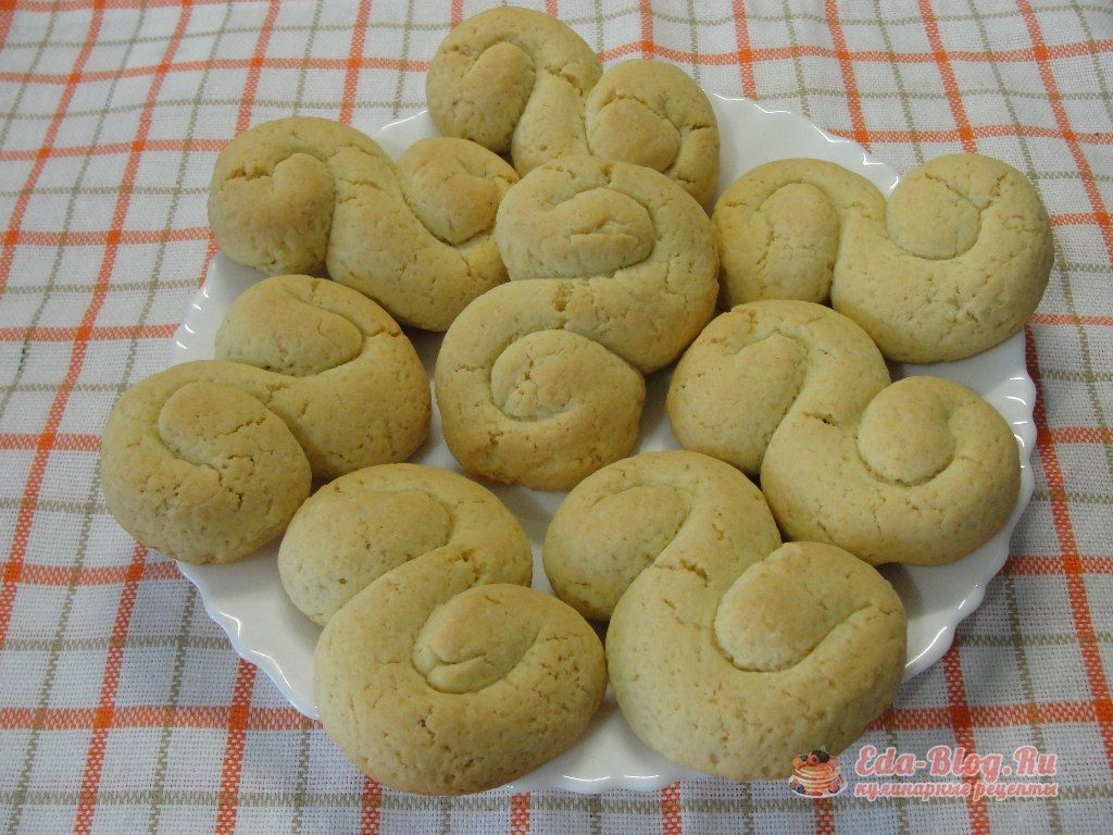 Простое песочное печенье с фото пошагово