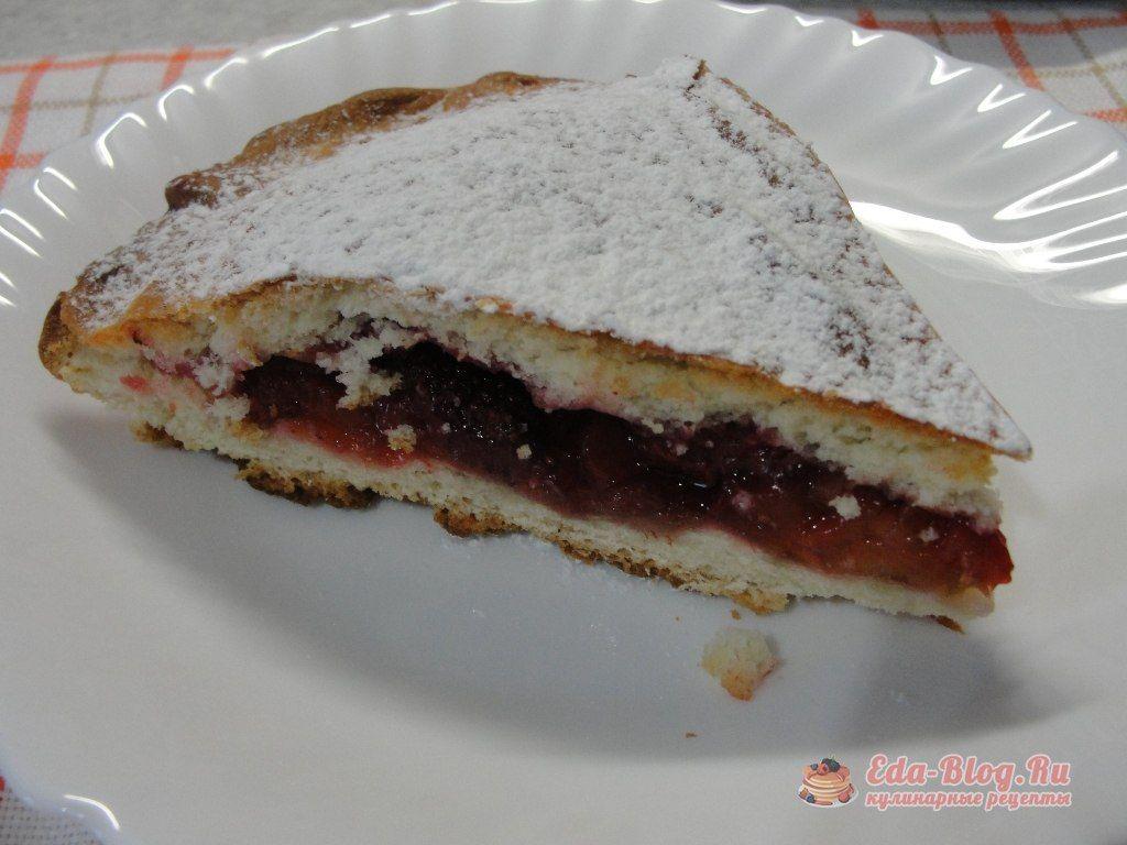 дрожжевой пирог с ревенем