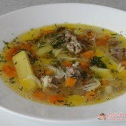 Быстрый суп с ленивыми фрикадельками