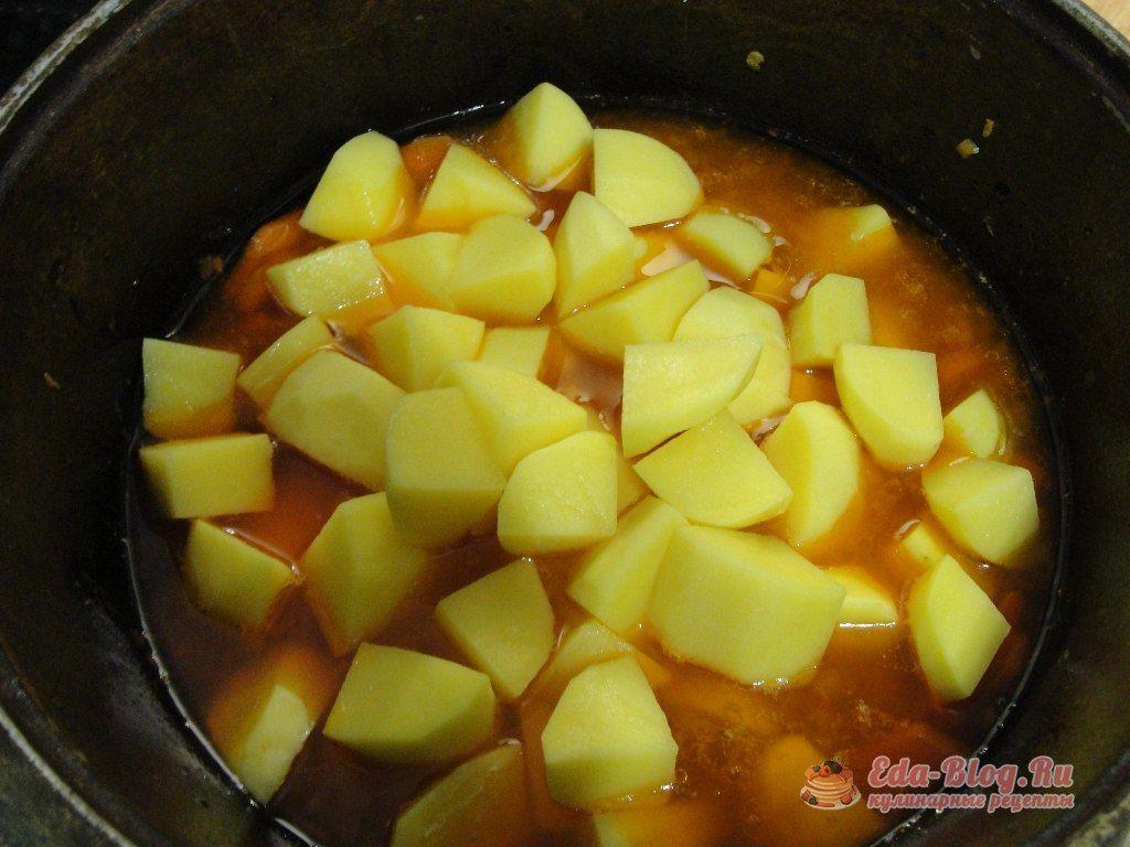 забрасываем картофель