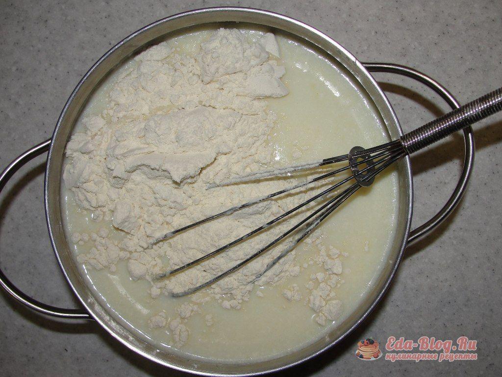 мука в молоко
