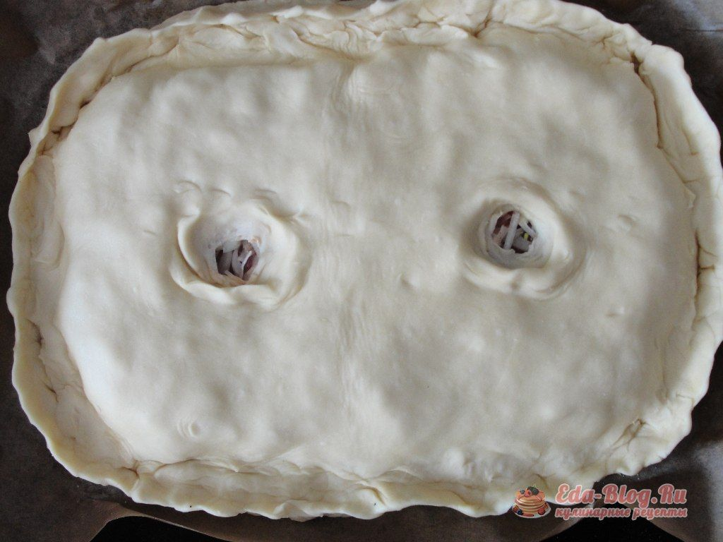 накрываем пирог
