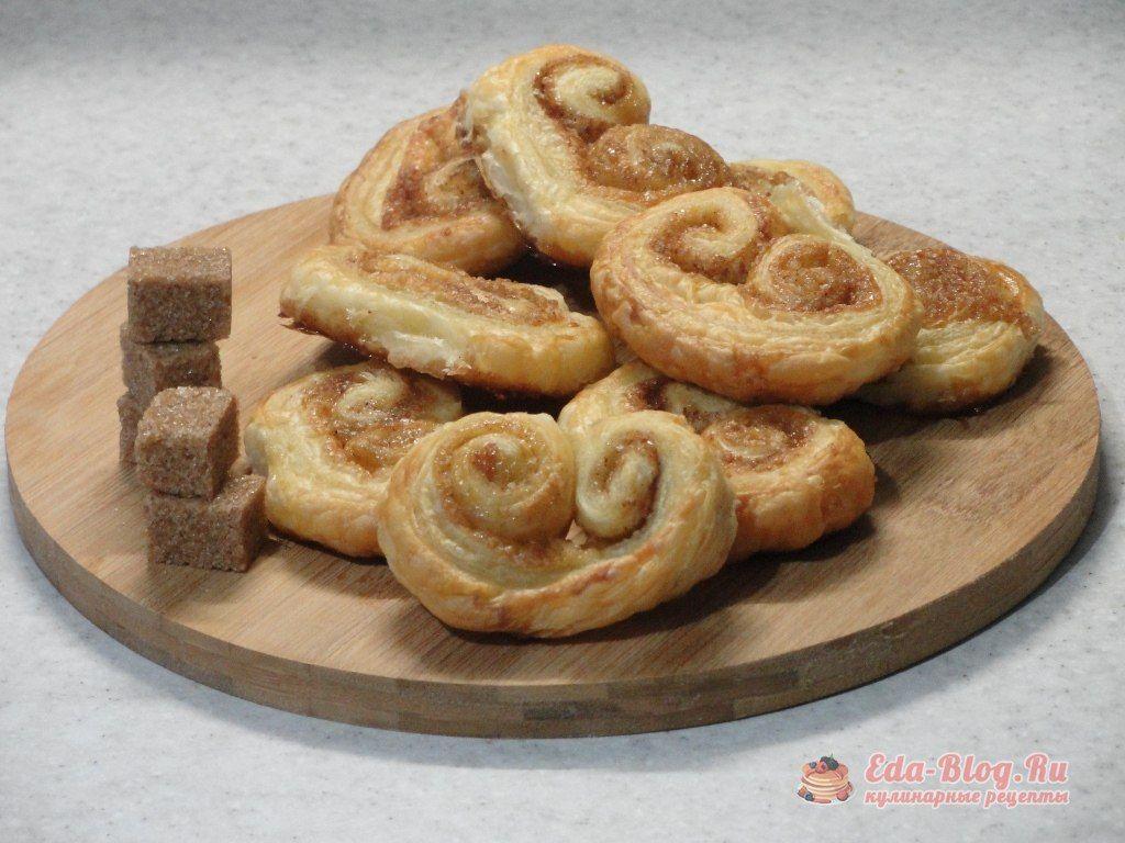 печенье из слоеного теста с сахаром