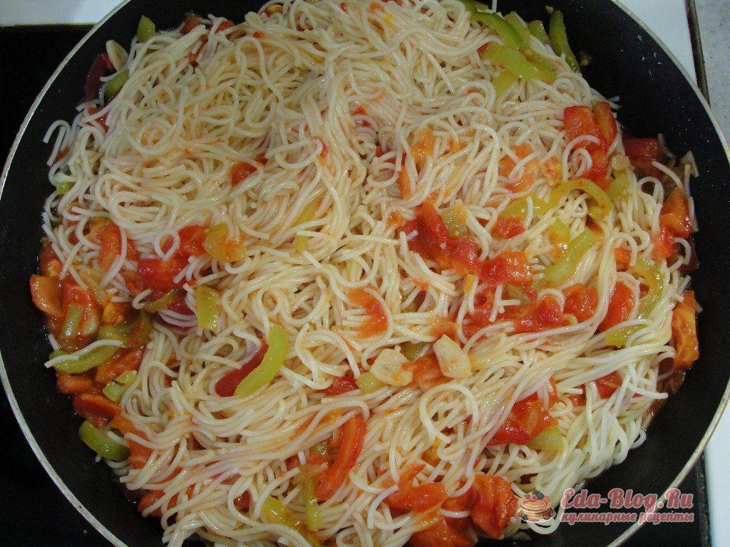 добавляем спагетти
