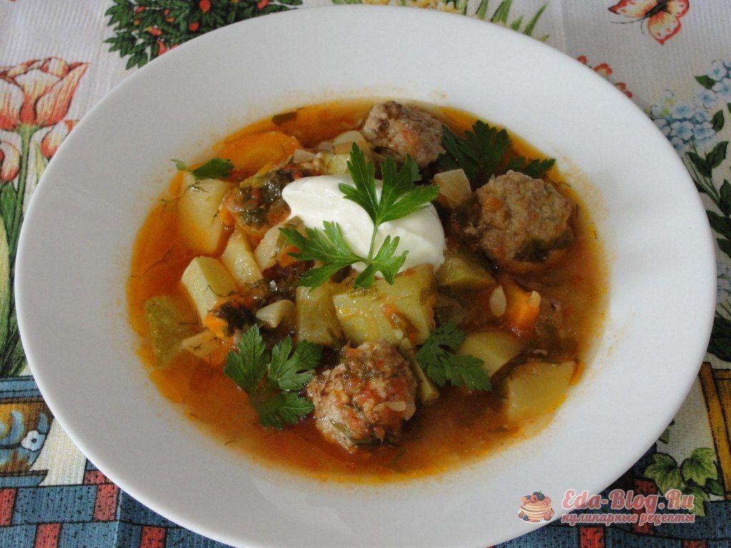 суп из кабачков с фрикадельками рецепт