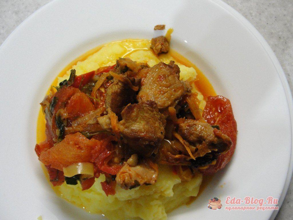 свинина тушеная с овощами рецепт с фото
