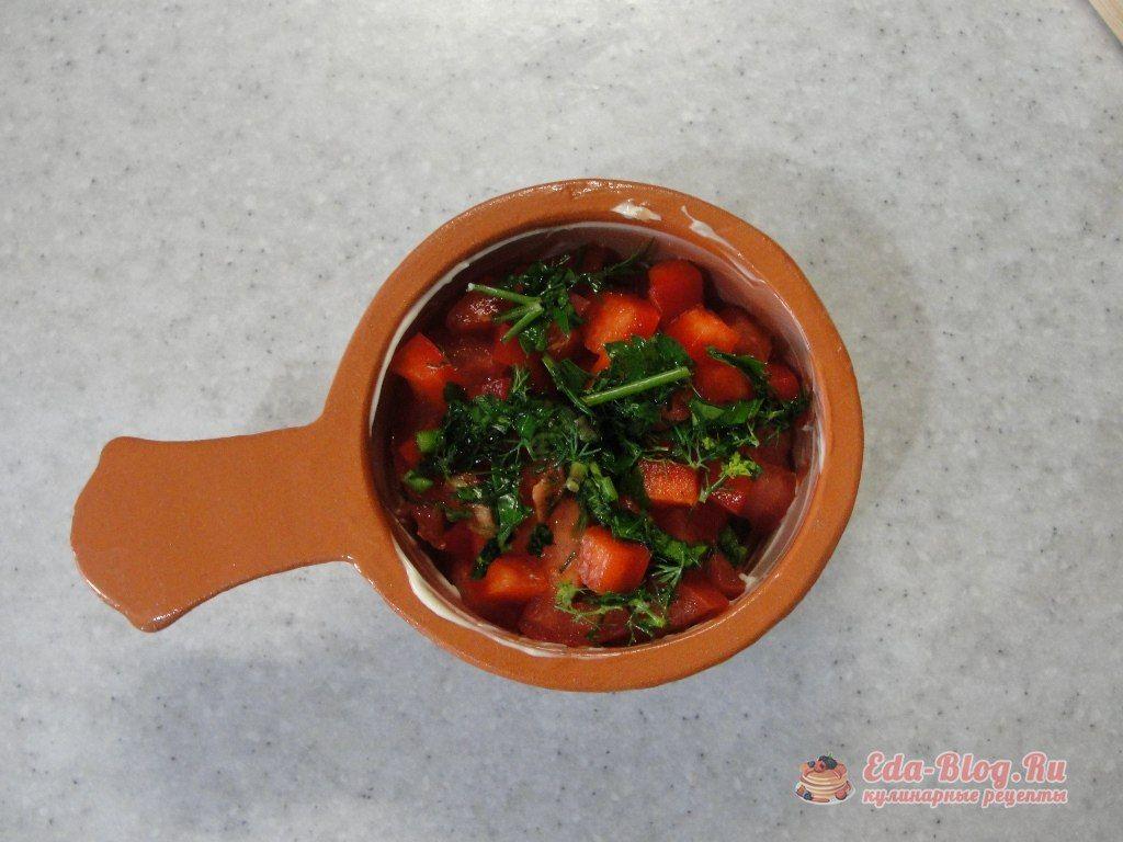 слой овощей