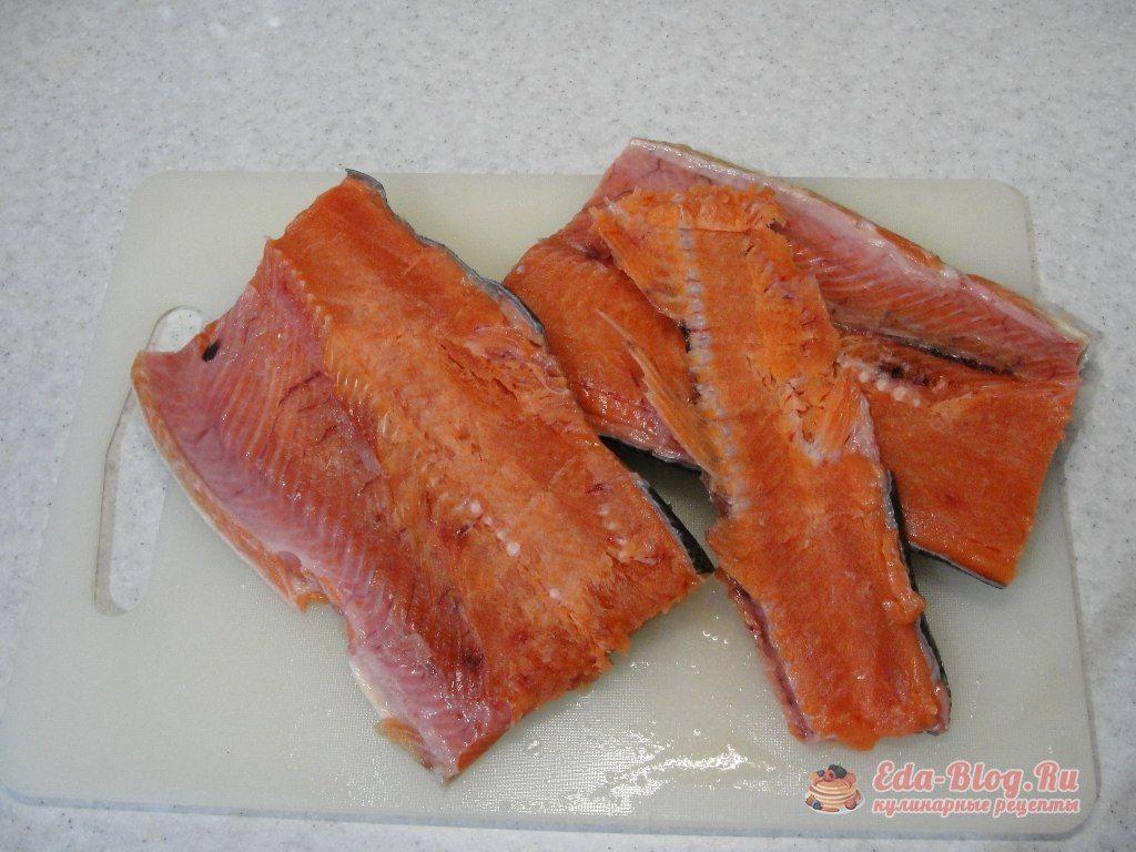 подготавливаем филе рыбы