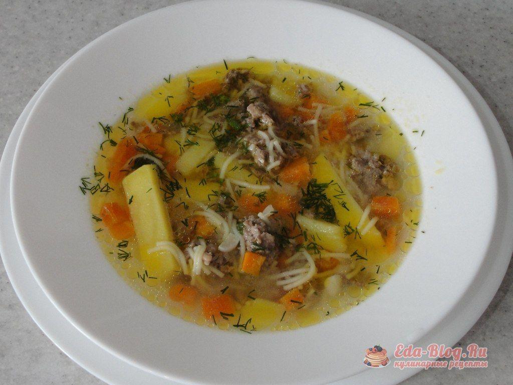 суп с ленивыми фрикадельками рецепт
